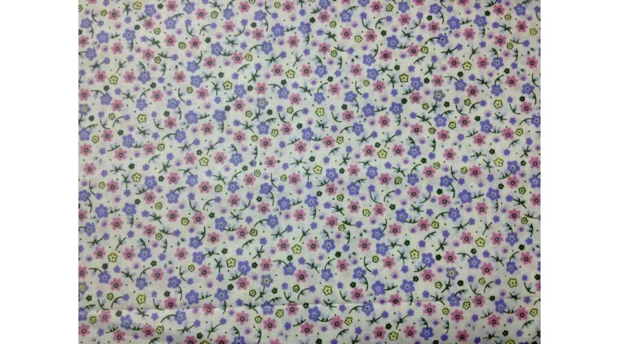 91c3c81f41 Apró virágos rózsaszín-lila színű pamutvászon - 100% Pamut